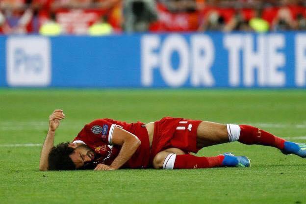 Ramos écrit un message pour Salah