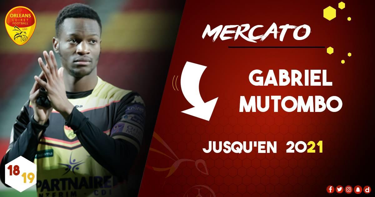Gabriel Mutombo reste à Orléans (off.)