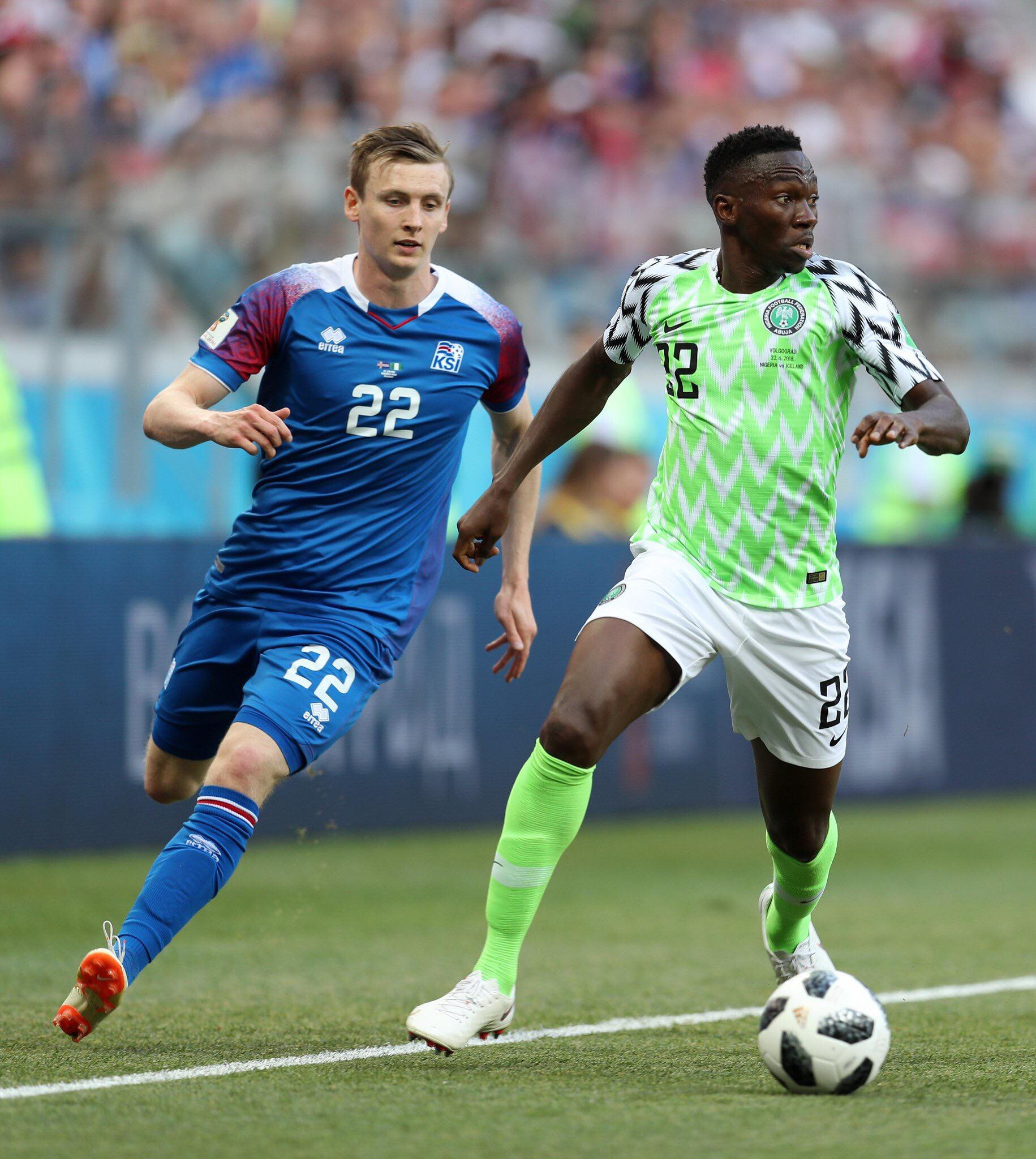 Le Nigeria et l'Islande dos à dos à la mi-temps (0-0)