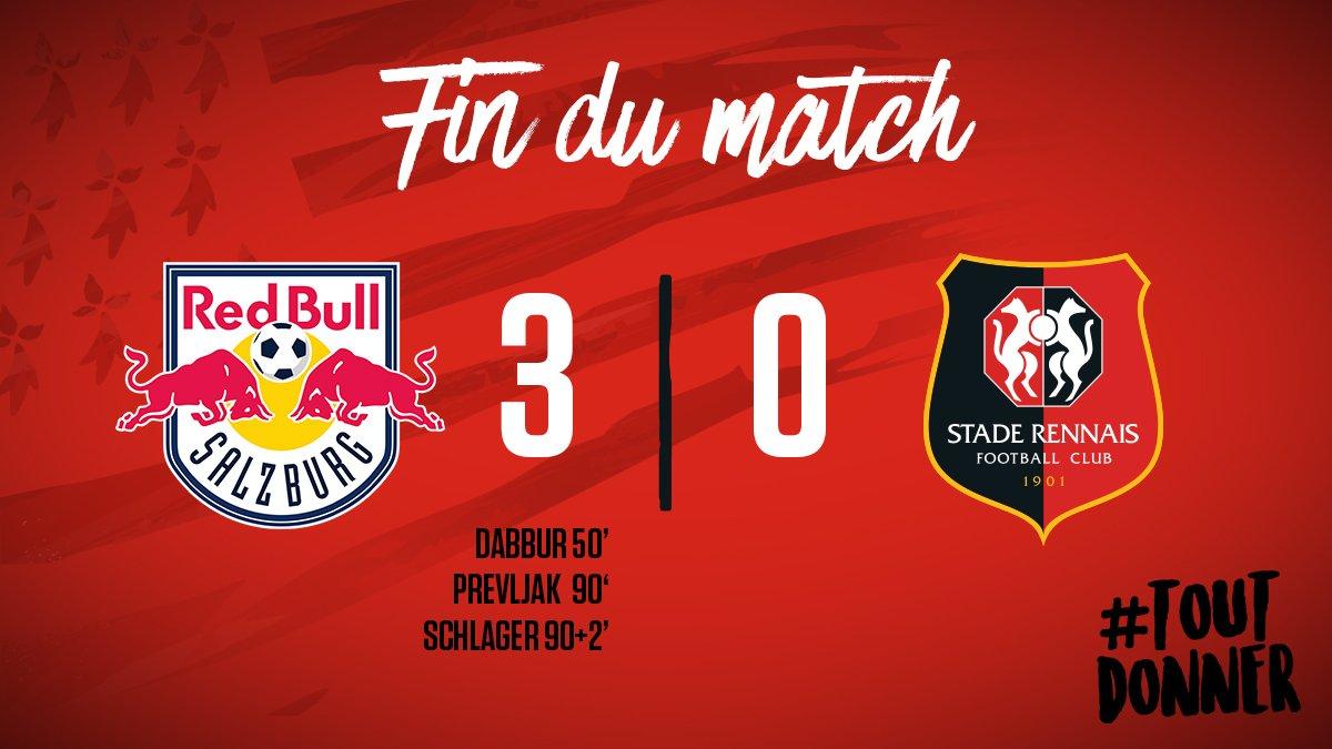 Défaite 3-0 pour Rennes !