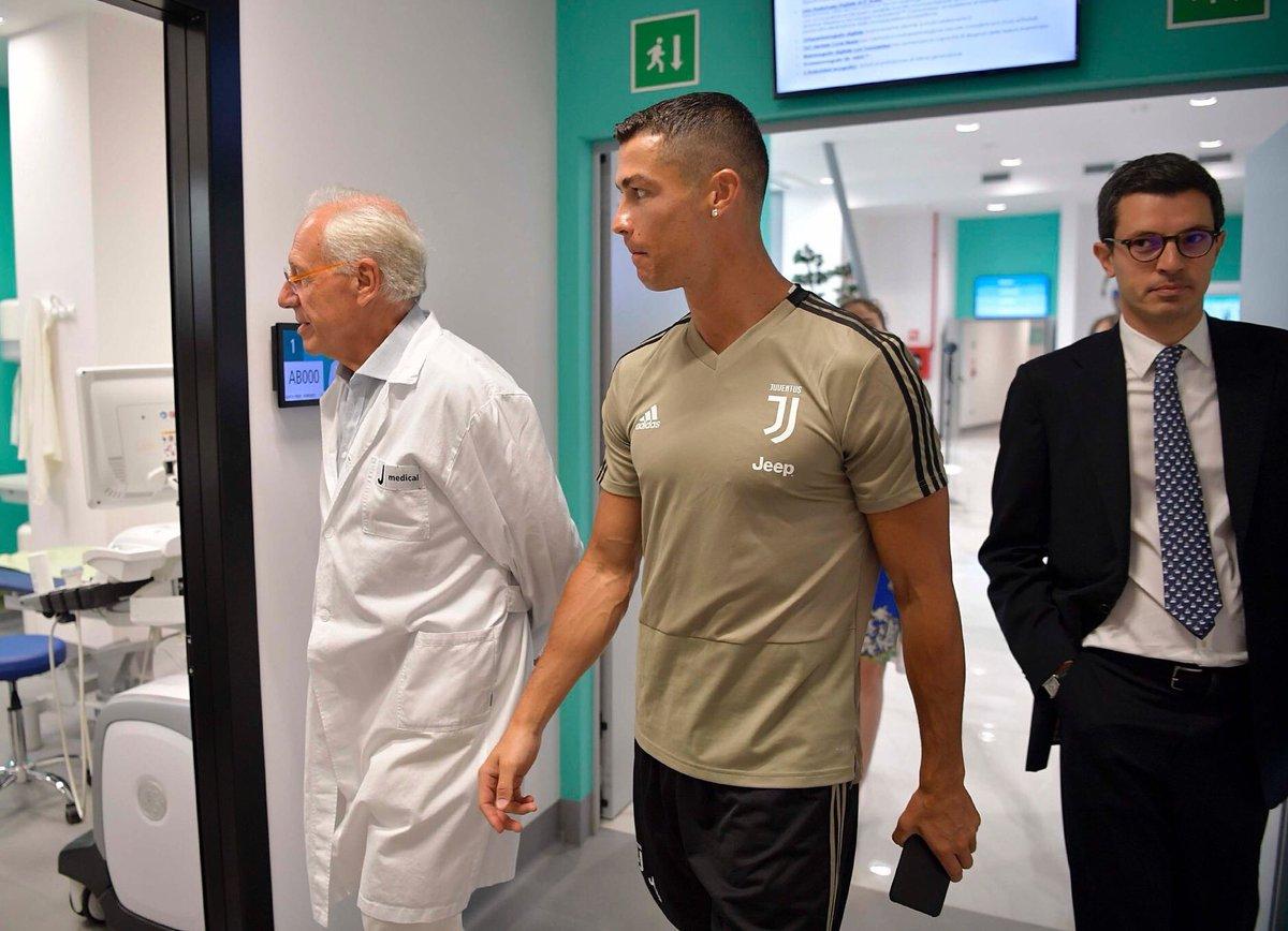 Cristiano Ronaldo est arrivé à Turin